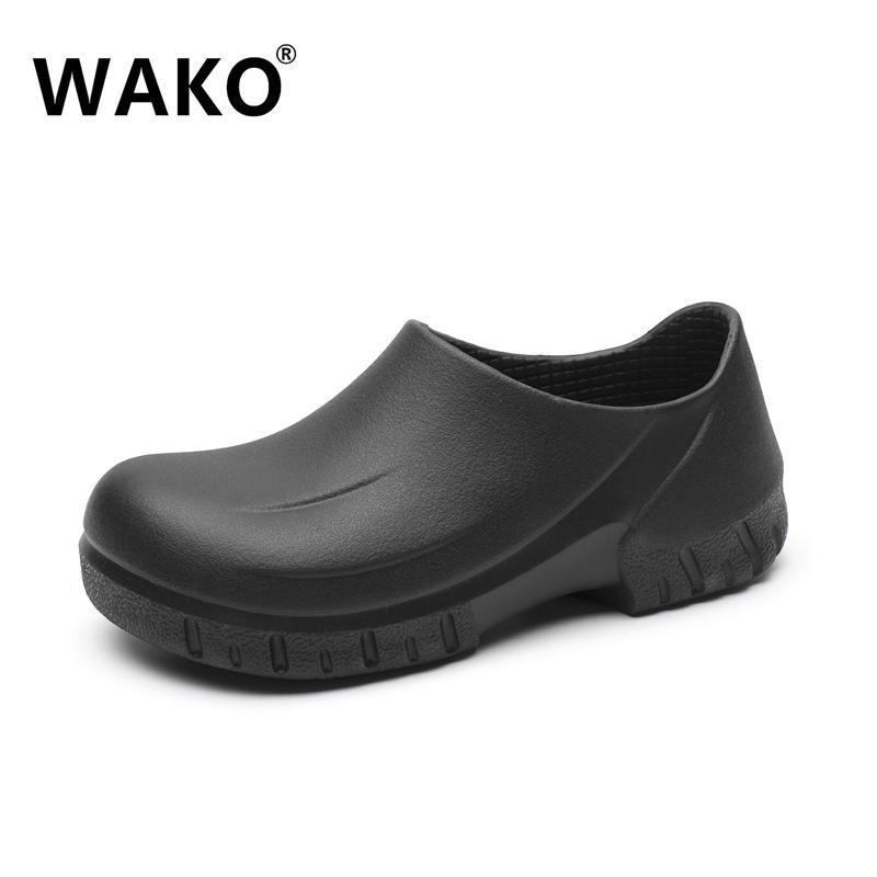 89de761ebd3 Compre WAKO 9033 Hombre Cocinero Zapatos Cocina Cocinero Zapatos Zuecos  Negros Hospital De Trabajo Súper Antideslizante A Prueba De Aceite  Sandalias ...