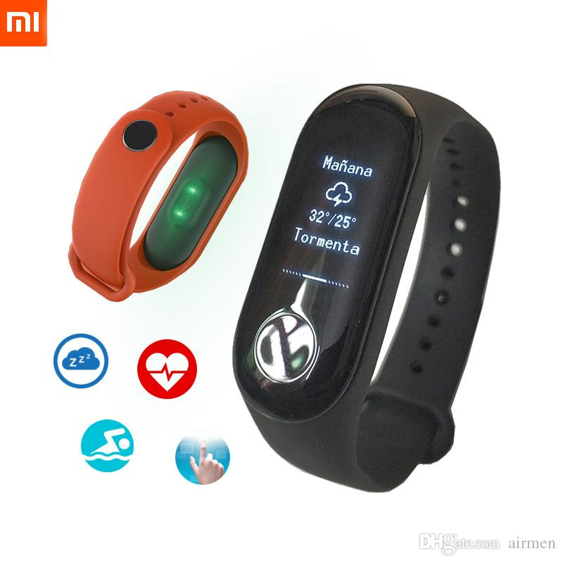Original Xiaomi Mi Band 3 Smart Wristband Fitness Bracelet Mi Band 3 OLED  Message Heart Rate Time Smartband Bluetooth 4 2 Android IOS