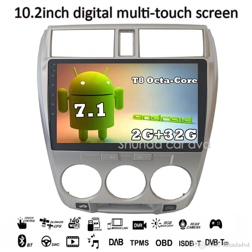 Shunda HD 10 2 Inch Android 7 1 2G 32G T8 Car DVD player for Honda city  with 3G 4G GPS BT Radio Navigation SWC RDS Map