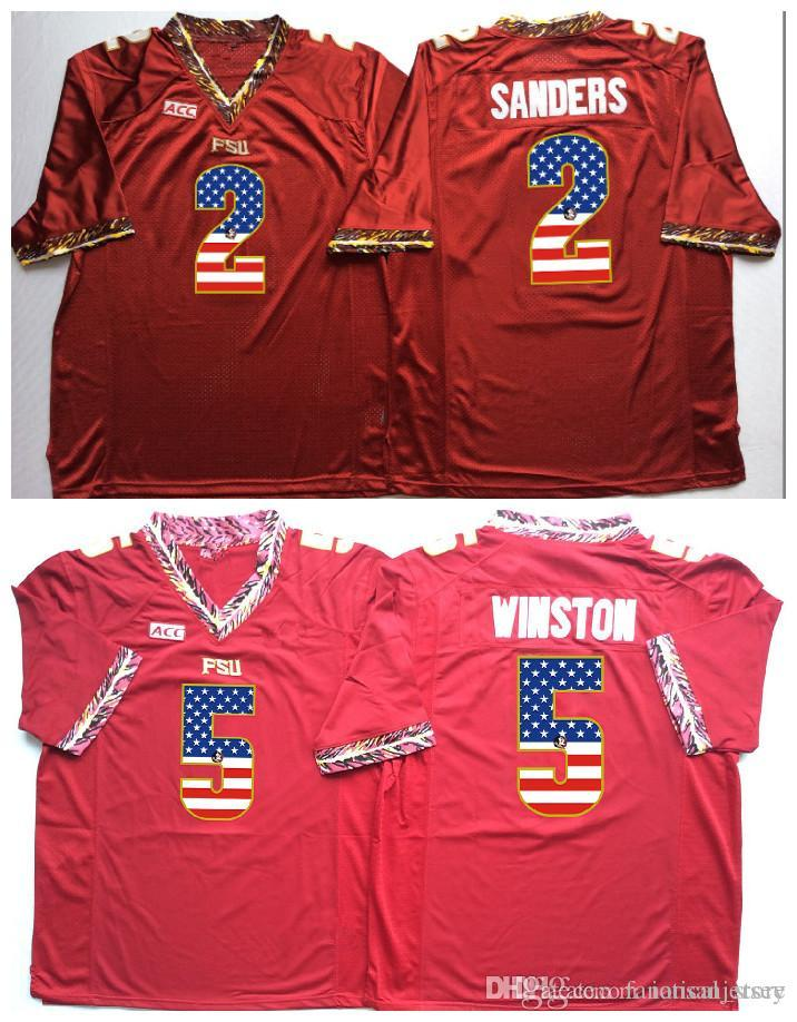 de772d8cb Florida State Seminoles Red Jameis Winston 5 Deondre Francois 12 College  Football Jersey Men Flag Jerseys Tune Squad Basketball Jersey Space Jams  Jersey ...
