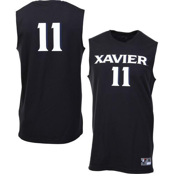 650c107c4 NO. 11 Xavier Musketeers Men College Basketball Jersey Embroidery ...