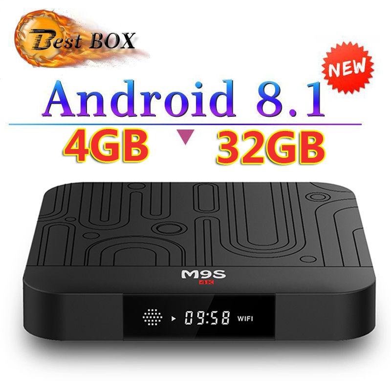 Newest M9S J1 Android 8 1 Tv Box Quad Core 4GB 32GB RK3328 2 4G Wifi H 265  Better S905W S905X A5X Max S8 MAX T9 H96 MAX X96