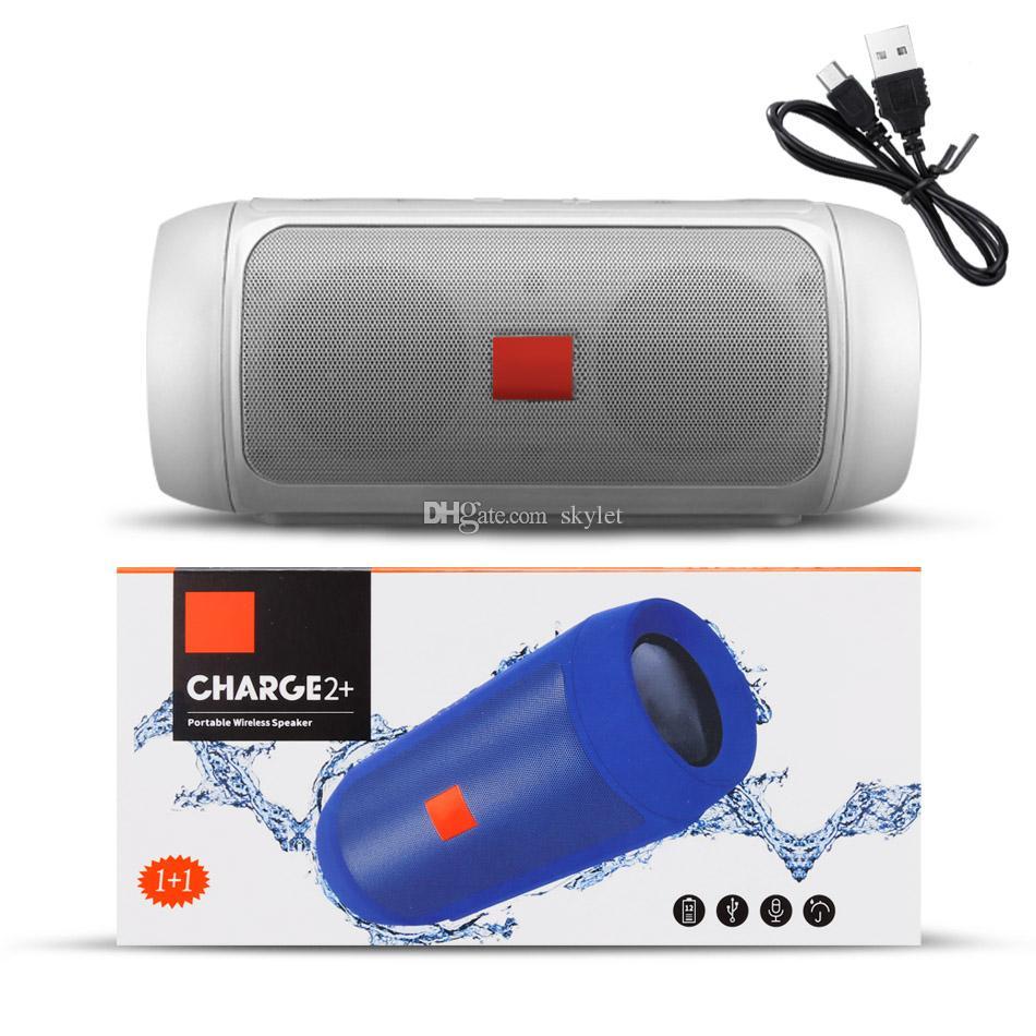 Subwoofer Taşınabilir Şarj 2 + Bluetooth Hoparlör Su Geçirmez Kablosuz Duş Perakende Kutusu ile Handsfree Çağrı Alıcısı Bas Hoparlör