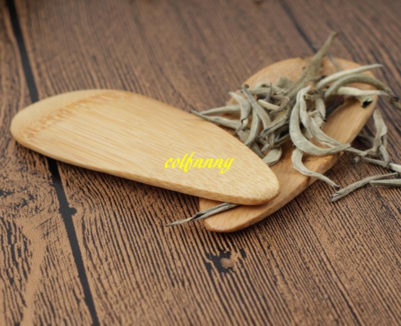 / 10x4cm Cucharas de té de cuchara de bambú natural Mini mango corto Cuchara de té de helado Herramientas de té ecológicas