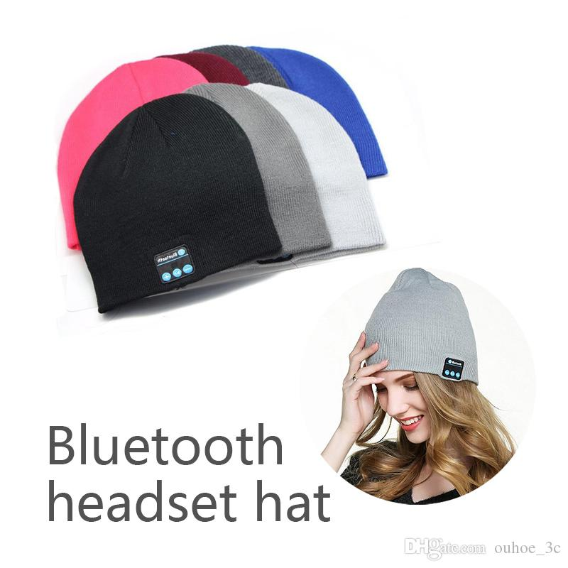 Bluetooth Chapeau Musique Beanie Cap Bluetooth Stereo Sans Fil Ecouteurs Haut Parleur Microphone Mains Libres Pour Iphone Samsung Telephone Portable