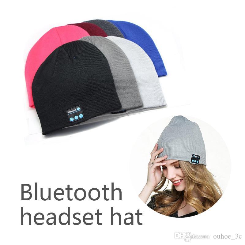 Compre Chapéu Bluetooth Cap Gorro De Música Bluetooth Estéreo Sem Fio Fone  De Ouvido Microfone Alto Falante Handsfree Para Iphone Samsung Telefone  Celular ... 1cde7e55eb8