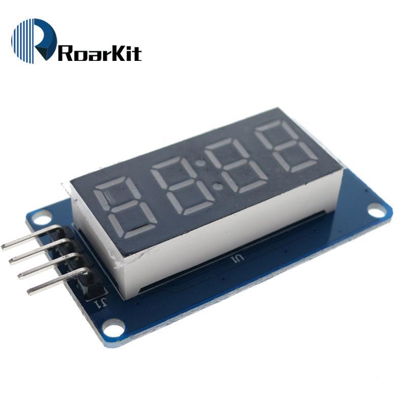 1pcs TM1637 4 Bits Digital LED Display Module For arduino 7 Segment  0 36Inch Clock RED Anode Tube Four Serial Driver Board Pack