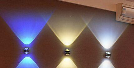 Acquista modern w led applique da parete due testa su e giù la