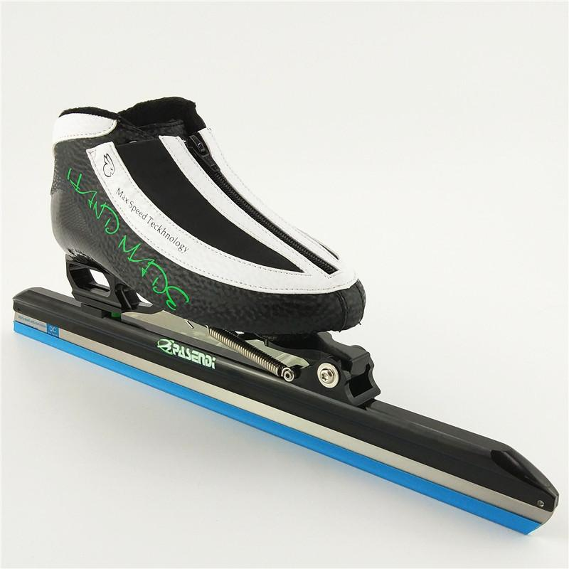 100 original pasendi professional ice skate black white color skate