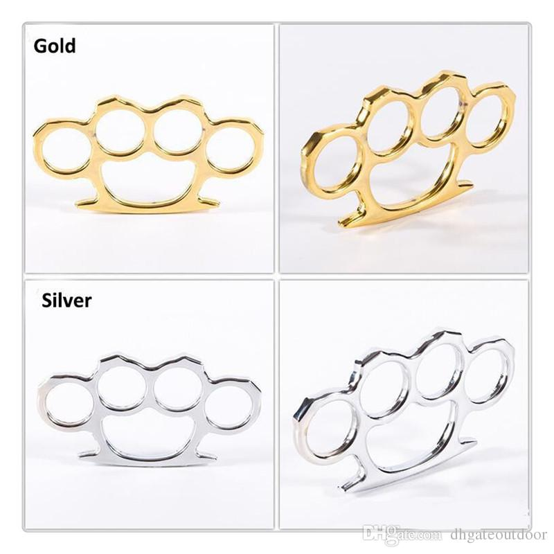 Sports Thin Brass Knuckle Dusters Self Defense Personal Security Women's and Men's self-defense Pendant Gear High Quality Fitness Supplies