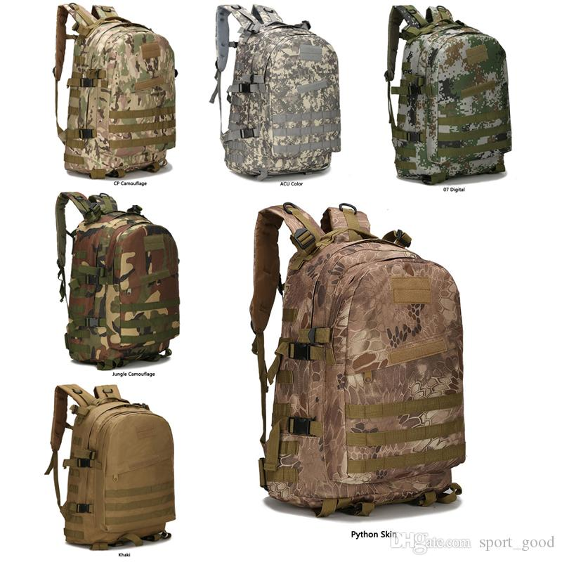 16fbf031570a 2019 Cool Outdoor Sports 40L 3P Military Tactical Backpack Oxford Waterproof  Camouflage Camping Bag Hiking Bag Rucksacks Trekking Bag Should Bags From  ...