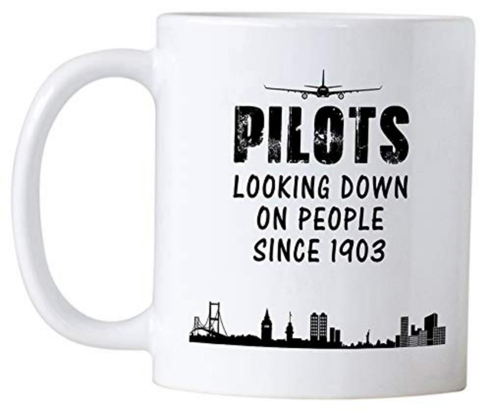 Casitika Airplane Pilot Gifts Novelty Mug For Pilots Looking Down On People Since 1903. Great Gift Idea For Your Large Christmas Mugs Large Coffee Mugs From ...