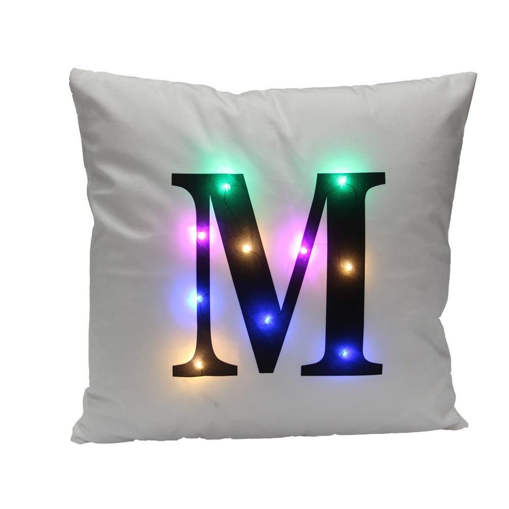 Reversible Mermaid Sequin pillow cushion LED lights pillow Magical letter Sequins Cafe Home Decor sofa bed Linen cushion pillows
