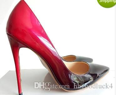 1dc5979c3fc6 Lady Shoes Woman Red Bottom High Heels Wedding Shoes Black Red Women ...