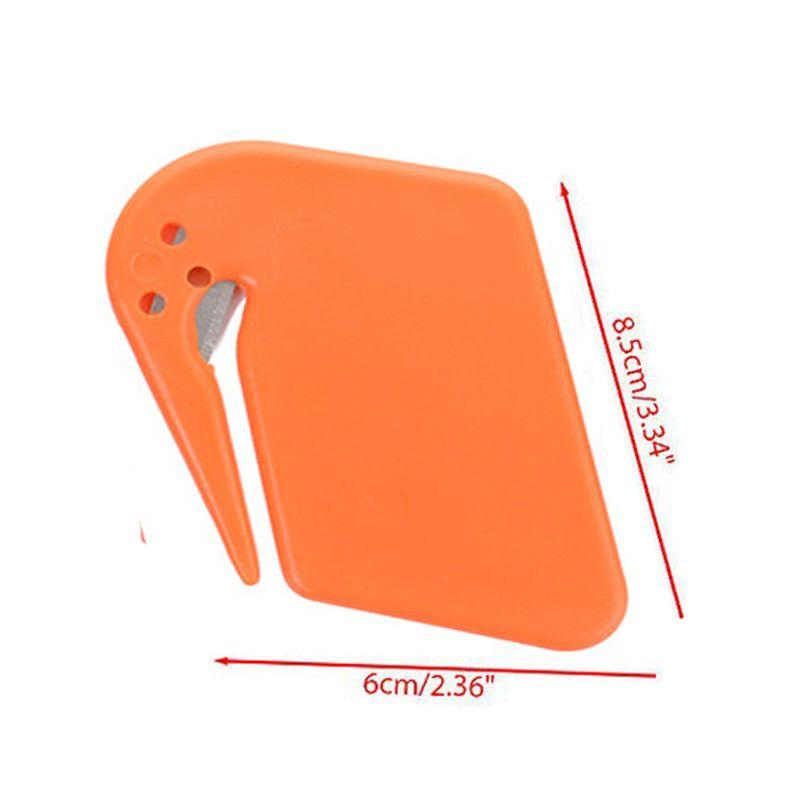 Plastic Mini Letter Knife Letter Mail Envelope Opener Safety Paper Guarded Cutter Blade Office Equipment Random Color