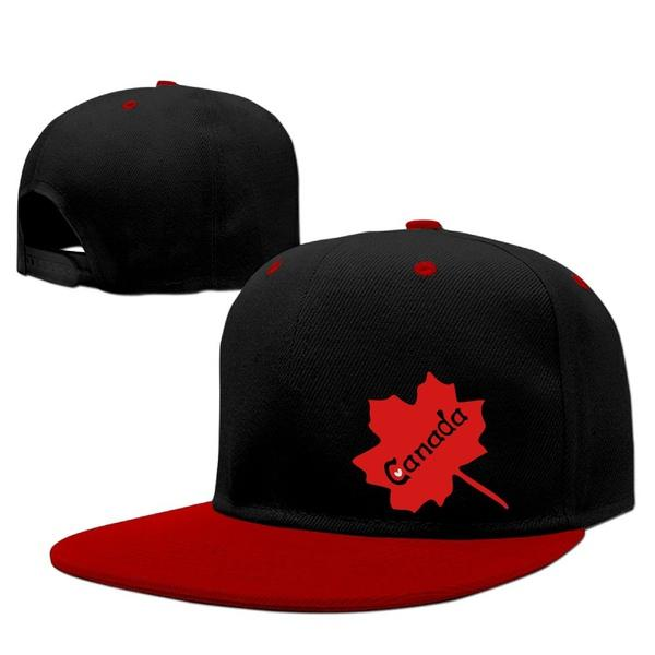 ... Calidad Personaliza Hombres Y Mujeres Gorra Snapback Gorra De Béisbol  De Borde Plano Personalizado Canadá Txt Hoja De Arce Arte Gráfico Juventud Hip  Hop ... 289f37c92c7