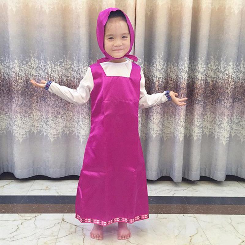 Großhandel Roupa Da Masha Und Bär Kleidung Kostüm Für Kinder Masha Y