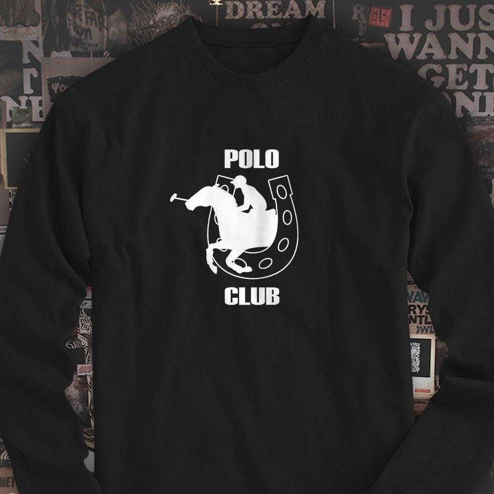 98e5e0784 POLO CLUB HORSEBACK RIDING SPORT EQUESTRIAN CHARM Mens Black Long Sleeve T  Shirt Tees Shirts T Shirt Site From Banwanyue8, $15.73| DHgate.Com