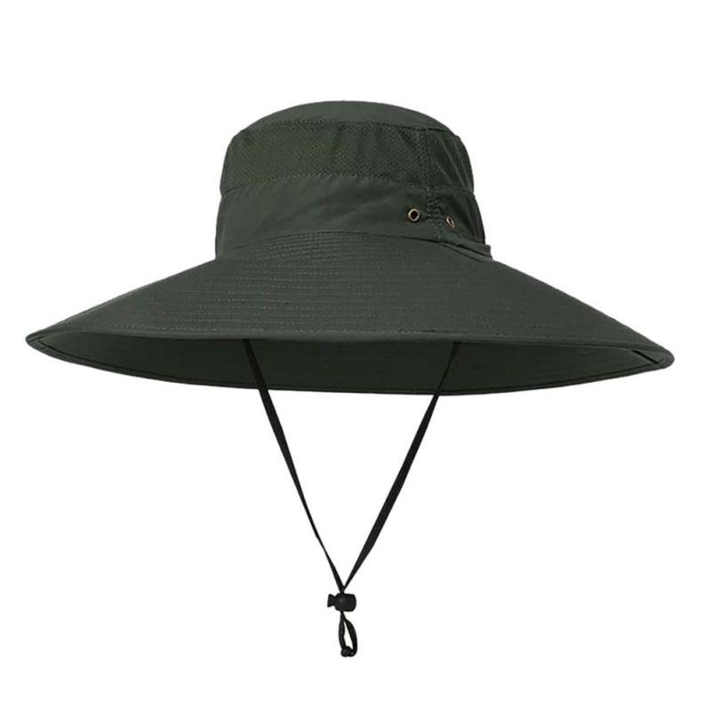 2019 UPF 50+ Outdoor Hiking Hat Summer Men Women Fishing Hats UV Protection  Long Large Wide Brim Hiking Sun Hat Outdoor Cap From Youtuo 0b49d7489f7