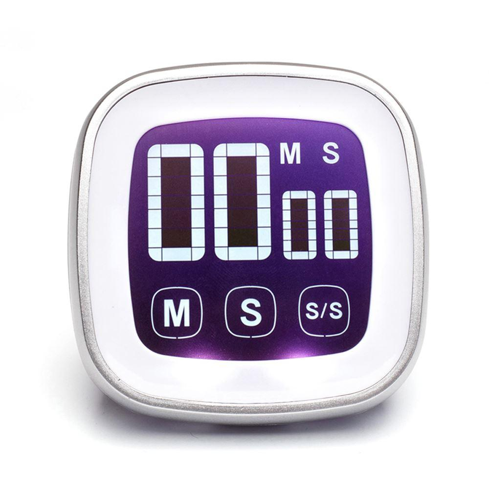 touch screen digital kitchen cooking timer with magnet count up