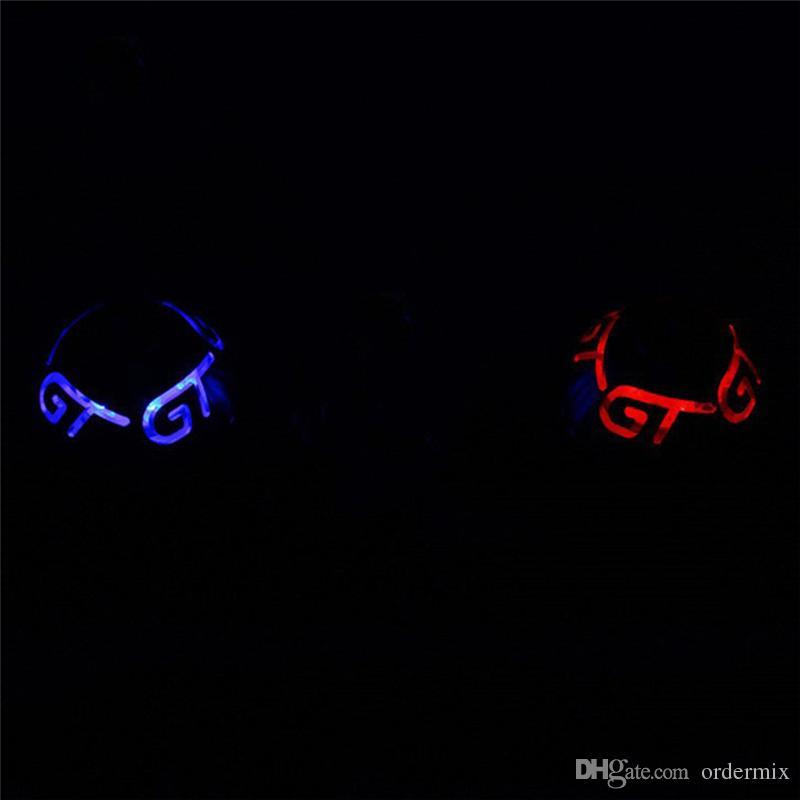 New العالمي سيارة شاحنة الأزرق / الأحمر led ضوء cnc دليل التحول المقبض رئيس ملصق سيارة التصميم والعتاد التحول المقبض ل gt rc سيارة hot