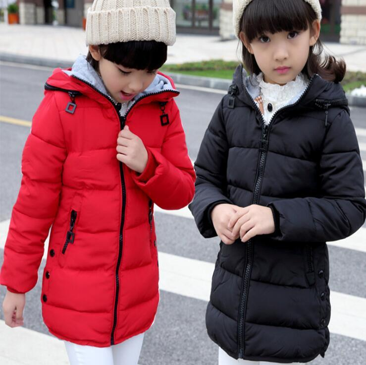 437f50b614ed 2018 Spring Winter Jacket For Girls Clothes Cotton Padded Hooded Kids Coat  Children Clothing Girl Parka Jackets   Coats Best Kids Coats Kids Winter  Coat ...