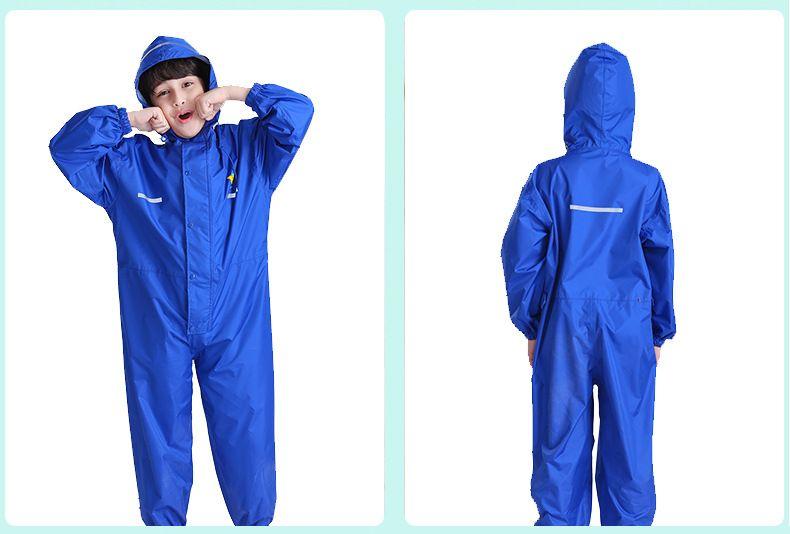 Raincoat Kids The Suit Of Siamese Cartoon Raincoat Children Boys Waterproof Pu Glue Clothes Rain Pants Suit