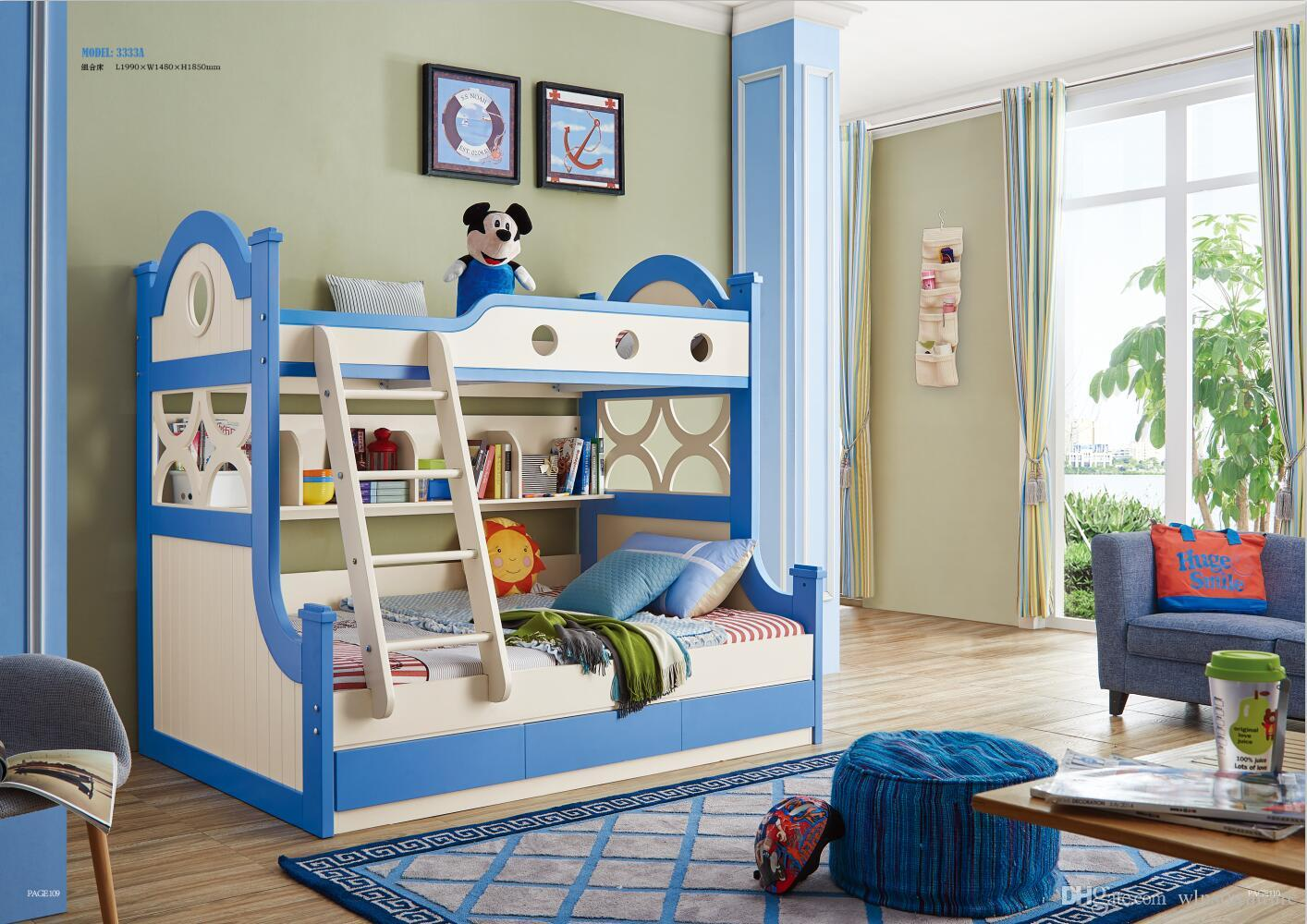 2019 Ash Wood Children Bedroom Furniture Solid Wood Children Bed ...