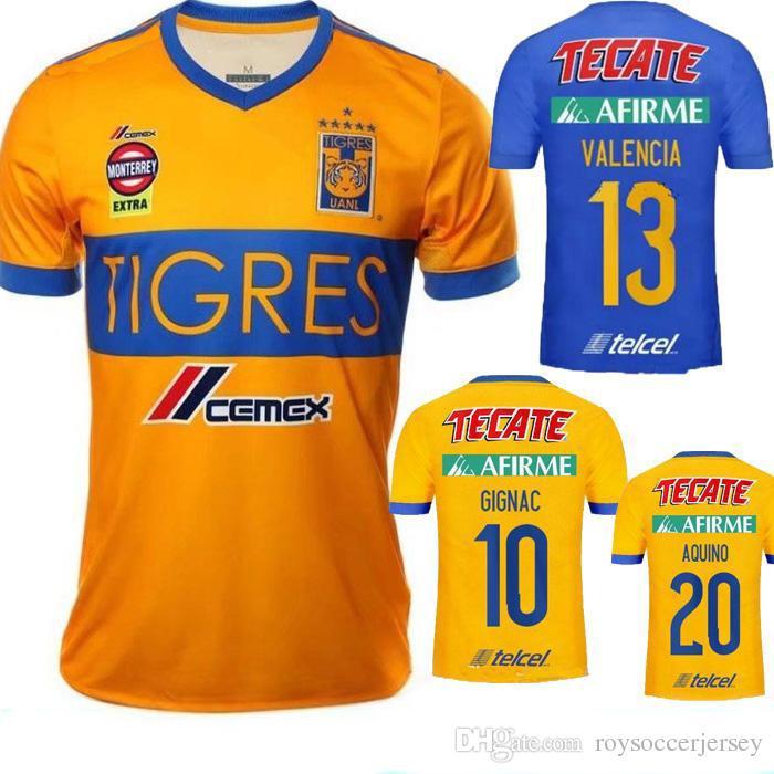945e90e36 2019 2017 2018 TIGRES UANL Soccer Jersey 2018 GIGNAC Home Blue Football  Jersey AQUINO DAMIAN H.AYALA VALENCIA VARGAS TIGRES UANL Football Shirt  From ...