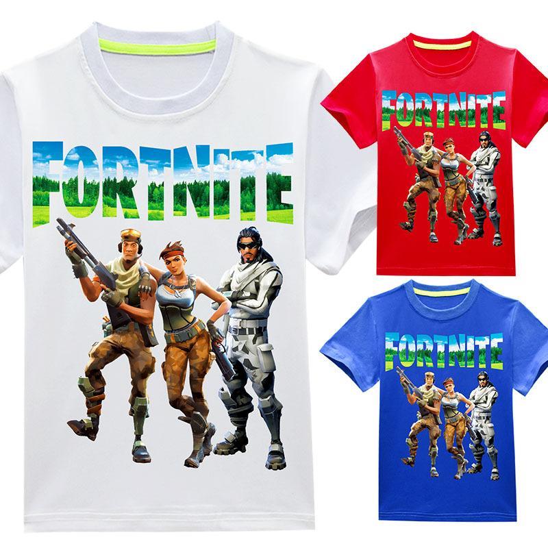 46cb40a79e2f7 Acheter Fortnite T Shirts 3 ~ 14 Ans 100% Coton Cartoon NOUVEAU Enfants  Vêtements Casual Summer Tops Garçons Filles T Shirt T Shirts LE18 De  4.73  Du ...