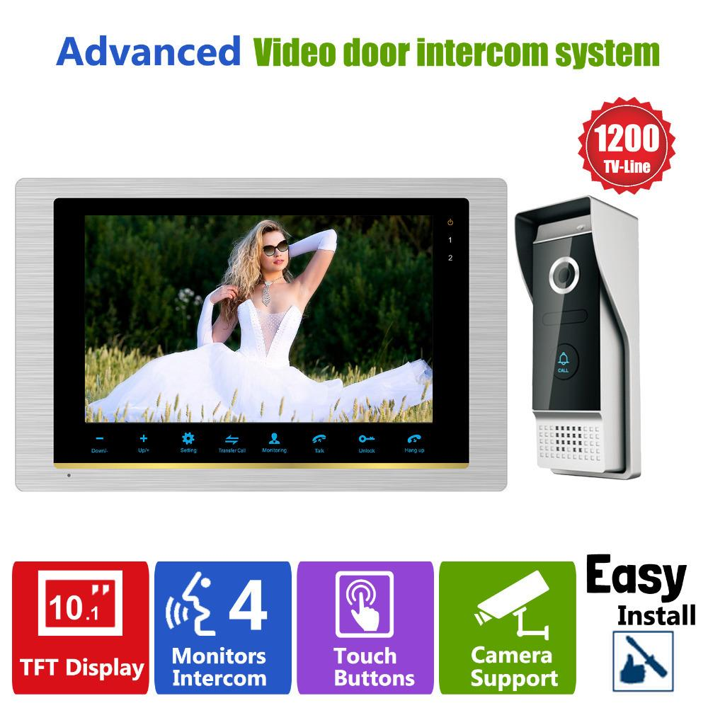 Homefong 10 Inch Intercom System Video Door Phone Night Vision Doorbell  Camera Mounted Door Intercom Monitor IP65 Ip65 Light Monitor 19 Monitor  Training ...