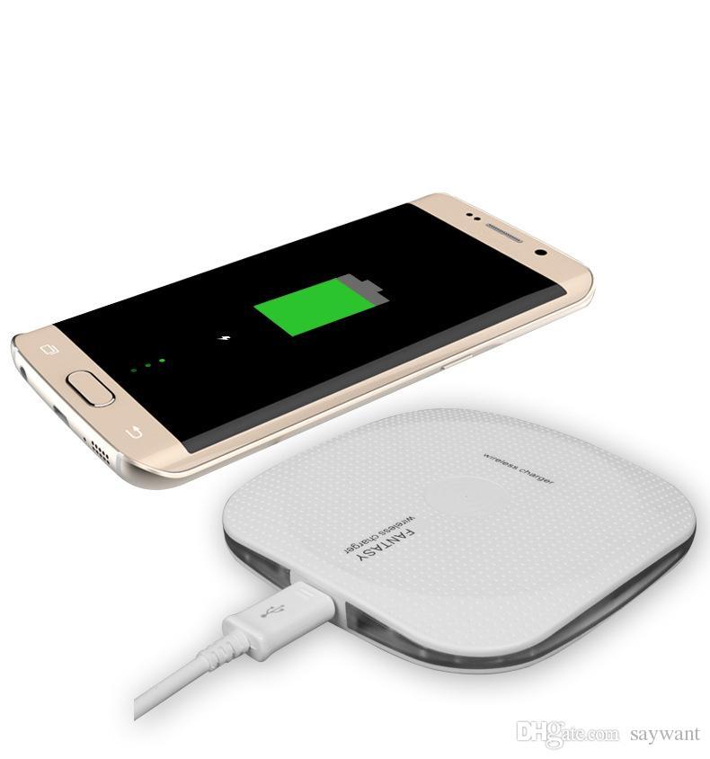 Новое прибытие Ци беспроводное зарядное устройство с противоскользящей резины для iPhone X быстрая зарядка Pad Для Samsung Примечание 8 Galaxy S8 Plus S7 Edge