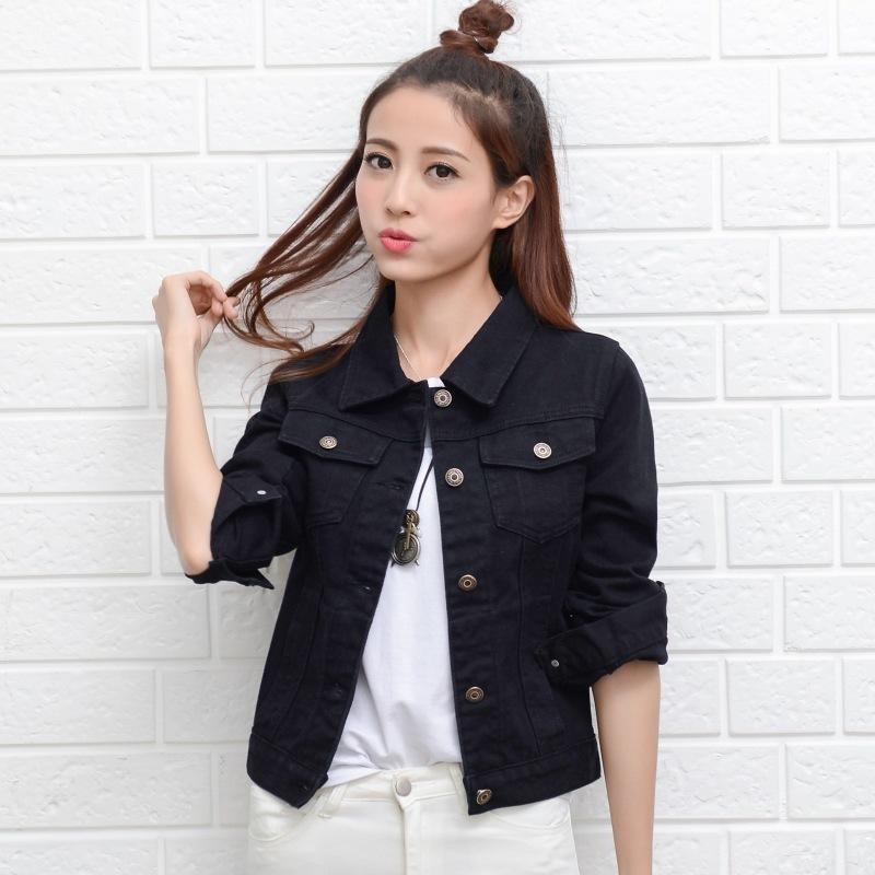 558e4384a Compre 2019 NOVA Moda Jaqueta Jeans Mulheres 2018 Primavera Outono De Manga  Longa Denim Curto Jaqueta Casacos Coreano Streetwear Top Feminino De Usa11