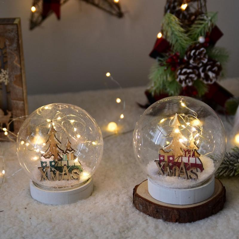 led christmas ball christmas decoration for home snowflake glass window decoration christmas table ornament online with 3669piece on