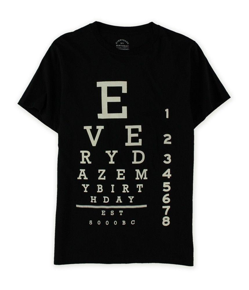 Everydaze My Birthday Mens Eye Chart Graphic T Shirt