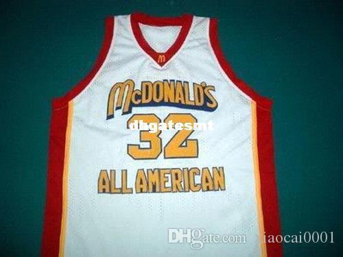 free shipping 47a83 5cb04 Cheap Mens white LEBRON JAMES McDONALD ALL AMERICAN JERSEY MCDONALD S WHITE  ANY SIZE XS - 5XL Retro Basketball Jerseys
