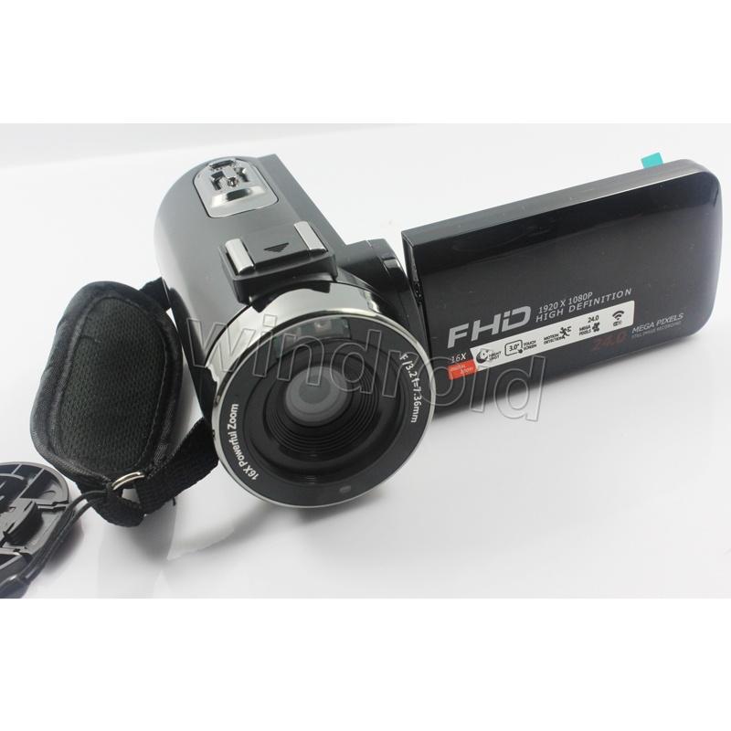 Caméra vidéo numérique 24MP FHD 1080P Caméscope numérique Hotshoe Night-shot 3