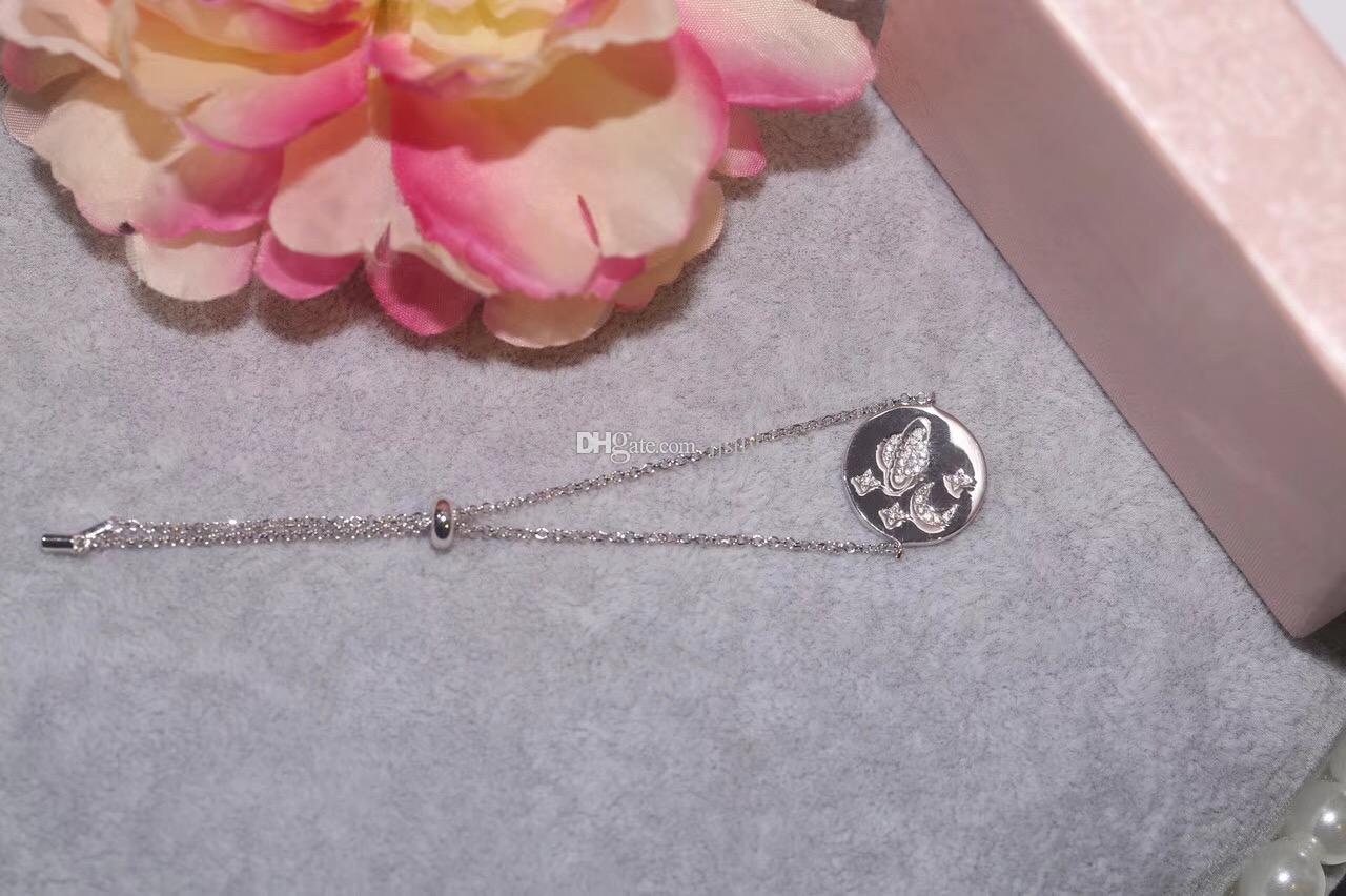 FEVRIER nova coleção estrela pulseira Pulseras Mujer, 925 prata esterlina cor de ouro rodada planeta pulseiras para as mulheres de jóias
