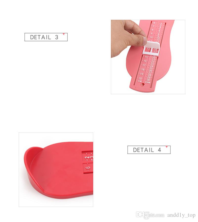 Children Feet Length Gauge Kids Shoes Measuring Tools Feet Measurements Newborn Baby Length Gauges Foot Measuring Device