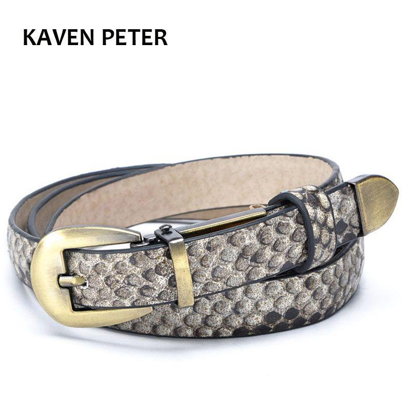 4f2e500d0 Compre Cinturones Vintage Para Mujer Latón Antiguo Faux Cuero De Serpiente Moda  Dama Cinturón Latón Antiguo Hebilla Metal Animal Cinturón Fino A $19.29 Del  ...