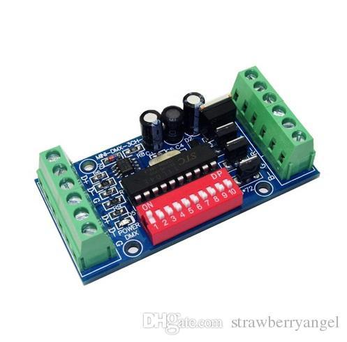 mini 3CH 3 channels Easy dmx LED Controller Dimmer,RGB dmx512  decoder,DC5V-24V,for LED strip light lamp LED bulb Fast shipping