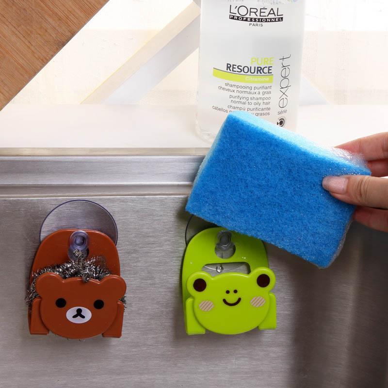 Sucking Disc Sponge Rag Storage Rack Bathroom Supplies Sundries Racks Kitchen Accessories Sink Storage Holders Wall-mounted