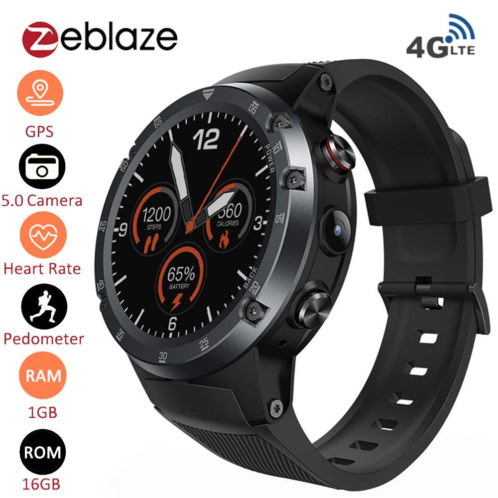 Relojes Caballero Zeblaze THOR 4 Plus 4G Smart Watch Phone Android 7.1.1  Quad Core 16GB + 1GB 5MP Cámara De 1.4 Pulgadas AMOLED Pantalla GPS  SmartWatch ... 1417cb817a64
