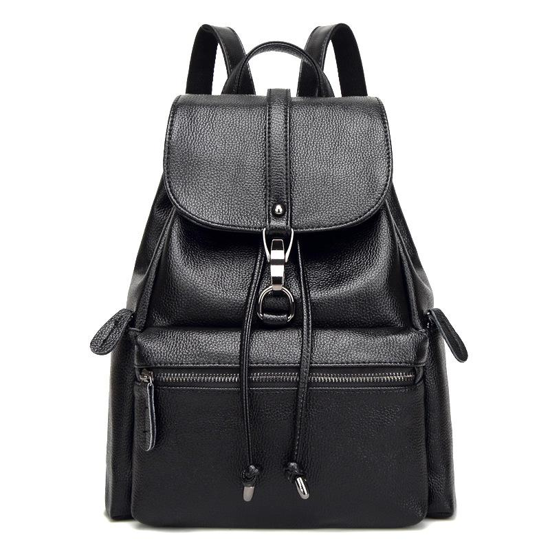 2685dff39e Fashion Genuine Leather Backpack Vintage Cow Leather Women Backpack Ladies  Shoulder Bag School Bag For Teenage Girl Jansport Big Student Backpack  Tactical ...