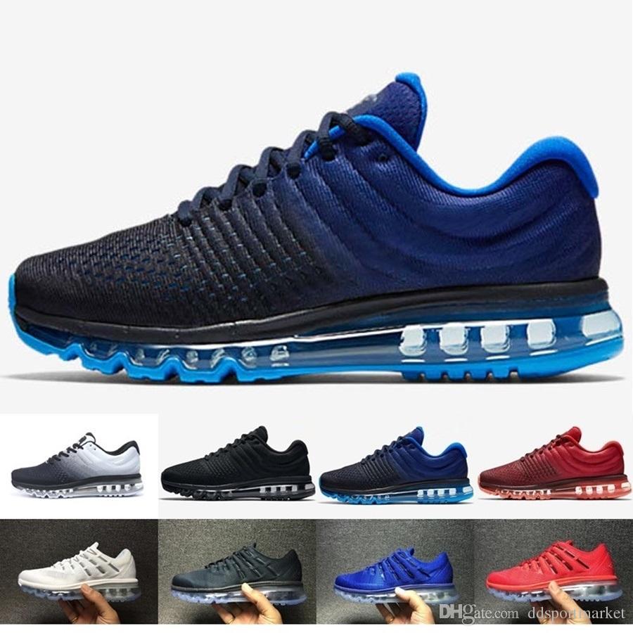 c22a2c32bd6101 Acheter Nike Air Max 2018 Airmax 2017 Haute Qualité Maille Tricot  Sportswear Hommes Femmes 2016 Casual Chaussures Pas Cher Sport Entraîneur  Sneakers ...