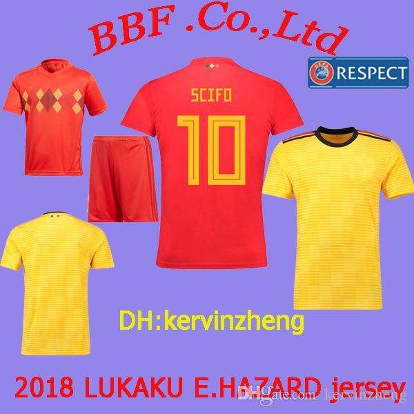 e8a58e2a6 2019 Thailand BELGIUM Soccer Jersey Kids Kit LUKAKU Jerseys FELLAINI E.HAZARD  KOMPANY DE BRUYNE 2018 World Cup Soccer Jersey 18 19 Football Shirt From ...