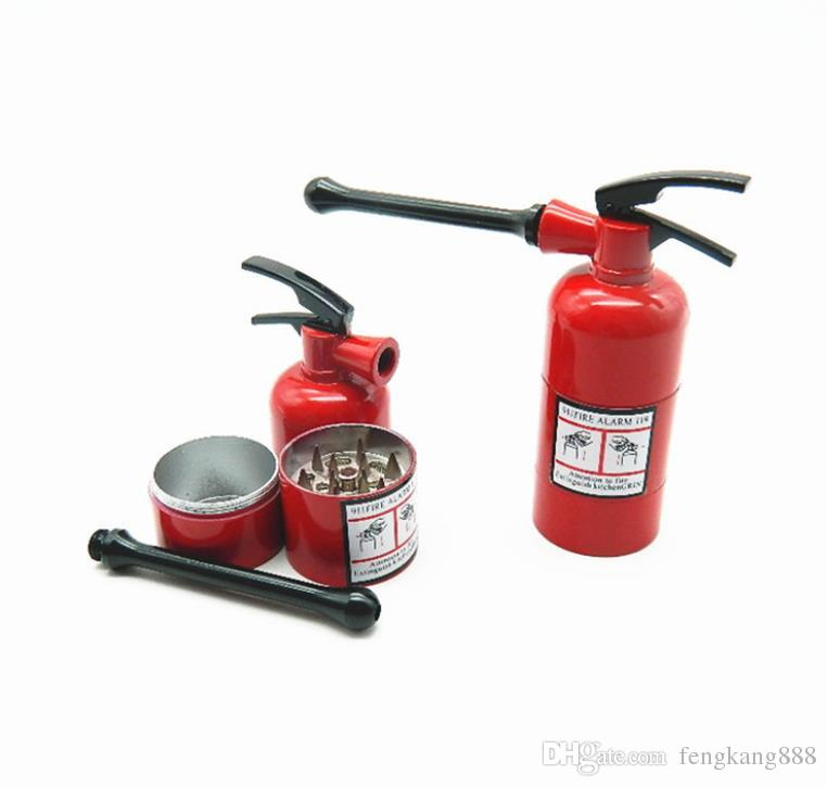 Portable metal smoke grinder, three layer fire extinguisher, form grinder, smoke cutter.