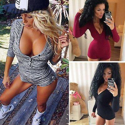 2019 Knitted Sexy Bodysuit Women Rompers Bodycon Jumpsuit Long Sleeve  Bodysuit Women Autumn Spring Ribbed Bodysuits Playsuits From Vikey16 28bfd29fb
