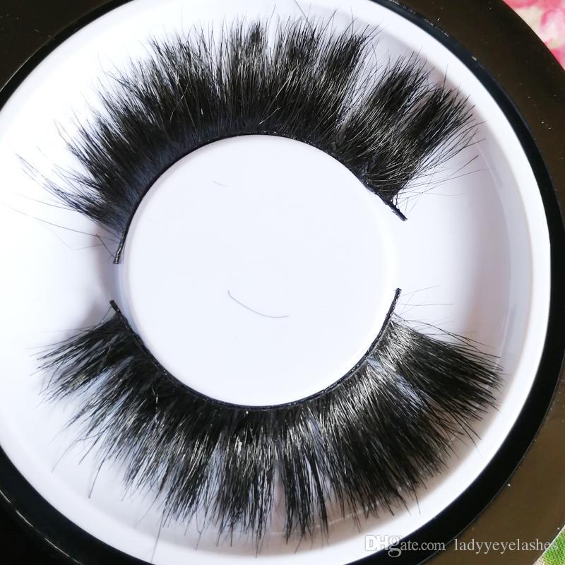 Alado Caballo Pelo Grueso Fake Eye Lashes falsas pestañas más suaves aladas de espesor gruesas pestañas desordenadas pestañas más ligero logotipo privado