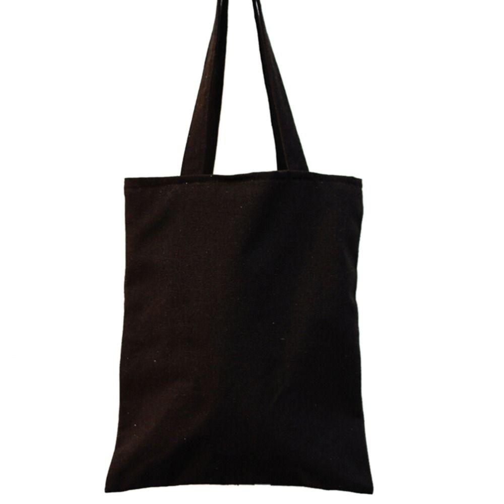 0c2208a11d Black Canvas Shopping Tote Vintage Style Cloth Bag Reusable Simple Design  Shoulder Carrying Bag Eco Reusable Wholesale Handbags Cheap Purses From ...